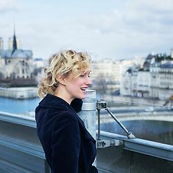 Paris, France. february 24, 2017. Sylvia Whitman, posing on the terrasse, at the Institut du Monde Arabe. Photo: Antoine Doyen