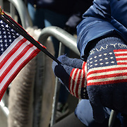 NEW YORK -- The 2017 New York City Veterans Day Parade honors the service of all our nation's veterans.  A New Yorker who attended the parade was prepared for morning temperatures as low as 38 degrees. <br />  #USNavy, #NavyInNYC, #VeteransDay, #USNavy, #VeteransDay #NeverForget (U.S. Navy photo by Chief Mass Communication Specialist Roger S. Duncan/ Released)