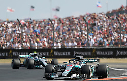 Mercedes' Lewis Hamilton during the 2018 British Grand Prix at Silverstone Circuit, Towcester.