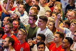 Fans enjoy the build up before kick off - Ryan Hiscott/JMP - 11/07/2018 - FOOTBALL - Ashton Gate - Bristol, England - England v Croatia, World Cup Village at Ashton Gate, FIFA World Cup Semi Final 2018
