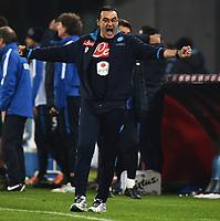 Maurizio Sarri Napoli Esultanza Celebration <br /> Napoli 30-11-2015 Stadio San Paolo Football Calcio 2015/2016 Serie A Napoli - Inter Foto Andrea Staccioli / Insidefoto