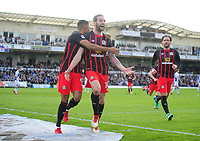 CELE - Blackburn Rovers' Charlie Mulgrew celebrates scoring the opening goal <br /> <br /> Photographer Ashley Crowden/CameraSport<br /> <br /> The EFL Sky Bet League One - Bristol Rovers v Blackburn Rovers - Saturday 14th April 2018 - Memorial Stadium - Bristol<br /> <br /> World Copyright © 2018 CameraSport. All rights reserved. 43 Linden Ave. Countesthorpe. Leicester. England. LE8 5PG - Tel: +44 (0) 116 277 4147 - admin@camerasport.com - www.camerasport.com