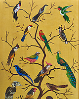 Background Burma Birds on Gold Sand Painting. Image taken with a Fugi X-T1 camera and 56 mm f/1.2 lens