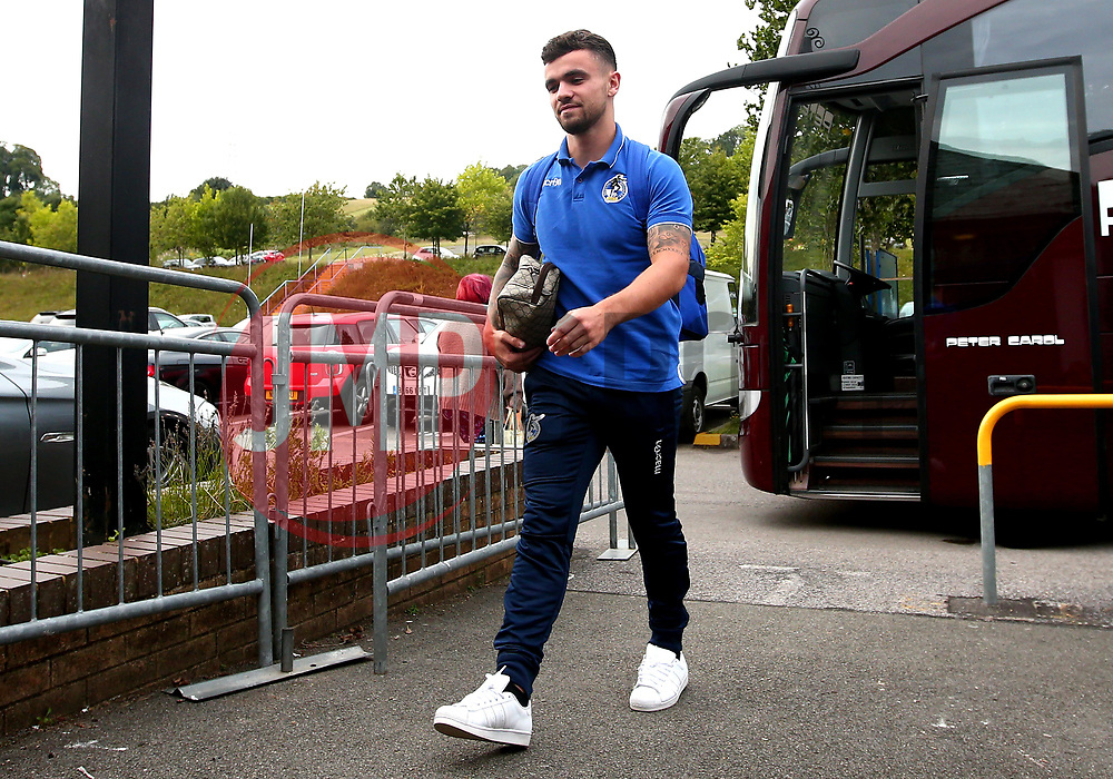 Dominic Telford of Bristol Rovers arrives at Adam's Park for the Checkatrade Trophy Match against Wycombe Wanderers - Mandatory by-line: Robbie Stephenson/JMP - 29/08/2017 - FOOTBALL - Adam's Park - High Wycombe, England - Wycombe Wanderers v Bristol Rovers - Checkatrade Trophy