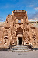 Main Hareem entrance of the 18th Century Ottoman architecture of the Ishak Pasha Palace (Turkish: İshak Paşa Sarayı) ,  Agrı province of eastern Turkey. .<br /> <br /> If you prefer to buy from our ALAMY PHOTO LIBRARY  Collection visit : https://www.alamy.com/portfolio/paul-williams-funkystock/ishak-pasha-palace-turkey.html<br /> <br /> Visit our TURKEY PHOTO COLLECTIONS for more photos to download or buy as wall art prints https://funkystock.photoshelter.com/gallery-collection/3f-Pictures-of-Turkey-Turkey-Photos-Images-Fotos/C0000U.hJWkZxAbg