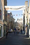 Welcome to Shetland banner, Commercial Street, Lerwick, Shetland Islands, Scotland