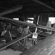 Gliders at one of Germany's famous glider schools. April, 1945