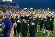MLS Game, Orlando City v San Jose Earthquake, Orlando City dedicate match to Pulse nightclub Shootings In Orlando.  <br /> 06-18-16.<br /> Orlando's gay choir on at half time  . <br /> Orlando, Florida, USA.<br /> Picture  Mark Davison for DailyMail.com<br /> Saturday 18th June 2016.