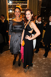 Left to right, ANDREA DELLAL and her daughter CHARLOTTE CREW at a Cocktail party to celebrate the opening of the new Miu Miu boutique, 150 New Bond Street, London hosted by Miuccia Prada and Patrizio Bertelli on 3rd December 2010.