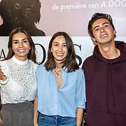NLD/Amsterdam/20190612 - inloop filmpremiere A Dogs Journey, Rosanna Kluivert - Lima met kinderen Demi en Nino
