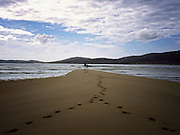 Footsteps in the Sand on Sheilbost Beach, Isle of Harris.