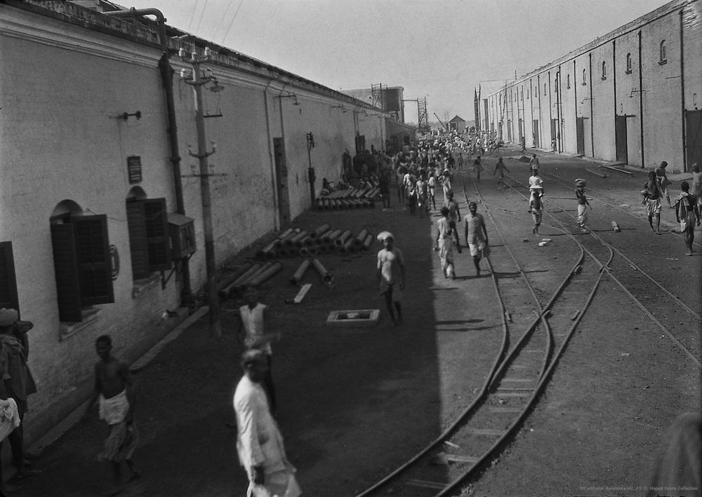 Lunch Time at the Birla Jute Mill, Calcutta, India, 1929