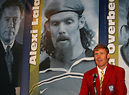 28 August 2006: Alexi Lalas during his Hall of Fame induction speech. The National Soccer Hall of Fame Induction Ceremony was held at the National Soccer Hall of Fame in Oneonta, New York.