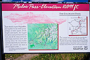 Molas Pass interpretive sign, San Juan Skyway (Highway 550), San Juan National Forest, Colorado