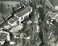 1937 Aerial photo of Deanna Durbin's home in the Los Feliz area
