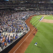 Pitcher Matt Harvey, New York Mets, warming up before the New York Mets Vs Los Angeles Dodgers, game three of the NL Division Series at Citi Field, Queens, New York. USA. 12th October 2015. Photo Tim Clayton for The Players Tribune
