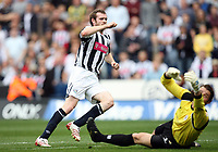 Photo: Rich Eaton.<br /> <br /> West Bromwich Albion v Barnsley. Coca Cola Championship. 01/09/2007. West Bromwich Albion's Craig Beattie scores Albion's second goal of the game past keeper Heinz Muller.