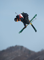 February 18, 2018 - Pyeongchang, South Korea - HENRIK HARLAUT of Sweden competes in the Mens Ski Slopestyle competition Sunday, February 18, 2018 at Phoenix Snow Park at the Pyeongchang Winter Olympic Games.  Photo by Mark Reis, ZUMA Press/The Gazette (Credit Image: © Mark Reis via ZUMA Wire)
