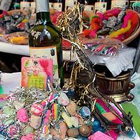 South America, Bolivia, La Paz. Potion from the Witch Doctor's Market of La Paz.