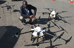 South Africa - Pretoria - 12 May 2020 - Managing director of Ntiyiso Aviation Services with drones that could be used in the fight against caronavirus at Mabopane taxi rank.<br />Picture: Jacques Naude/African News Agency(ANA)