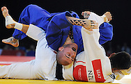 Commonwealth Games, Glasgow 2014<br /> SECC Judo<br /> Men's  -73kg Final<br /> Adrian Leat of NZ and Danny Williams of England.<br /> <br /> Danny Williams won Gold for England<br /> <br />  Neil Hanna Photography<br /> www.neilhannaphotography.co.uk<br /> 07702 246823