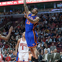 17 December 2009: New York Knicks forward Wilson Chandler goes for a layup during the Chicago Bulls 98-89 victory over the New York Knicks at the United Center, in Chicago, Illinois, USA.