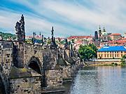 Praga, stolica Czech. 2013-07-23. Most Karola