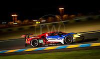 Qualifying Joey Hand (USA) / Dirk Muller (DEU) / Sebastien Bourdais (FRA) driving the LMGTE Pro Ford Chip Ganassi Team USA  Ford GT 24hr Le Mans 15th June 2016