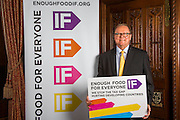 Lord Collins supporting the Enough Food for Everyone?IF campaign. .MP's and Peers attended the parliamentary launch of the IF campaign in the State Rooms of Speakers House, Palace of Westminster. London, UK.