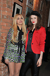 Left to right, ZARA MARTIN and TALI LENNOX at the Raymond Weil Pre-Brit Awards Dinner held at The Mosaica, The Chocolate Factory, Clarendon Rd, Wood Green, London N22 on 24th January 2013.