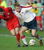 Fotball<br /> Privatlandskamp<br /> Norge v Wales 0-0<br /> Ullevaal Stadion<br /> 27.05.2004<br /> Foto: Morten Olsen, Digitalsport<br /> <br /> John Arne Riise - Liverpool<br /> John Oster - Sunderland