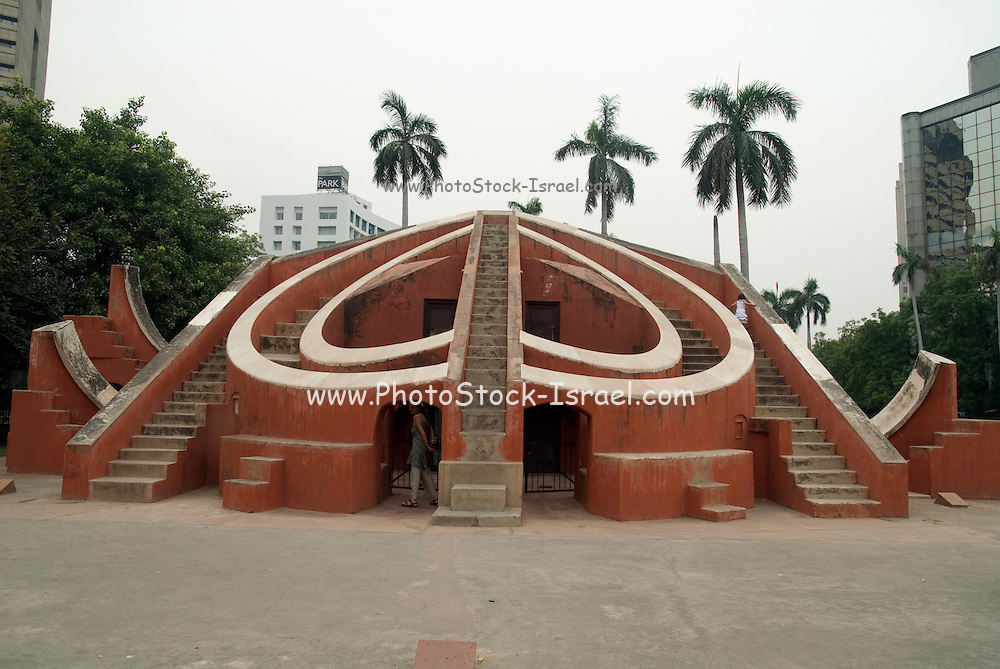 India, Delhi, The Jantar Mantar Observatory female tourist visiting the site. Model Release available