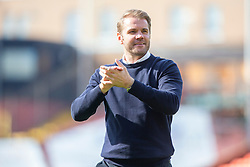 Dundee United's manager Robbie Neilson at the ebnd. Dundee United 4 v 1 Inverness Caledonian Thistle, first Scottish Championship game of season 2019-2020, played 3/8/2019 at Tannadice Park, Dundee.