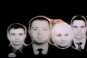 Moscow, Russia, 29/01/2006..Image from Russian television documentary expanding on allegations by the Russian Federal Security Service of spying by British embassy diplomats in Moscow. The image shows the four men Russian authorities have accused of spying.