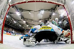 Alex Westlund (EHC Liwest Linz, #32) during ice-hockey match between HDD Tilia Olimpija and EHC Liwest Black Wings Linz at fourth match in Semifinal  of EBEL league, on March 13, 2012 at Hala Tivoli, Ljubljana, Slovenia. (Photo By Matic Klansek Velej / Sportida)