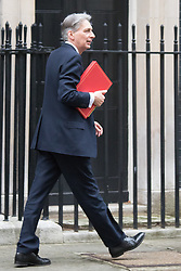 Downing Street, London, February 9th 2016.  Foreign Secretary Philip Hammond arrives in Downing Street for the weekly cabinet meeting. ///FOR LICENCING CONTACT: paul@pauldaveycreative.co.uk TEL:+44 (0) 7966 016 296 or +44 (0) 20 8969 6875. ©2015 Paul R Davey. All rights reserved.
