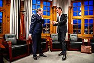 Rutte ontvangt beoogd staatssecretarissen van Financiën