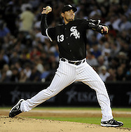 CHICAGO - AUGUST 27:  Freddy Garcia #43 of the Chicago White Sox pitches against the New York Yankees on August 27, 2010 at U.S. Cellular Field in Chicago, Illinois.  The White Sox defeated the Yankees 9-4.  (Photo by Ron Vesely)
