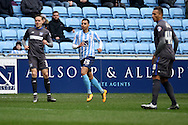 Coventry City Defender Jack Stephens during the Sky Bet League 1 match between Coventry City and Bury at the Ricoh Arena, Coventry, England on 13 February 2016. Photo by Chris Wynne.