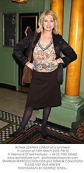Actress JOANNA LUMLEY at a luncheon in London on 18th March 2003.	PIB 35