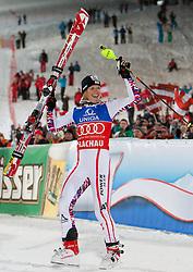 20.12.2011, Hermann Maier Piste, Flachau, AUT, FIS Weltcup Ski Alpin, Damen, Slalom Podium, im Bild Marlies Schild (AUT, Rang 1) // first place Marlies Schild of Austria, on Podium Slalom at FIS Ski Alpine Worldcup at Hermann Maier Pist in Flachau, Austria on 2011/12/20. EXPA Pictures © 2011, PhotoCredit: EXPA/ Johann Groder