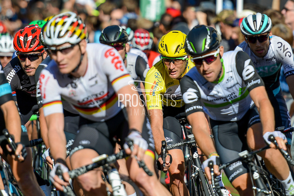 Steve Cummings of Great Britain and Team Dimension Data (centre) during the Tour of Britain 2016 stage 8 , London, United Kingdom on 11 September 2016. Photo by Mark Davies.