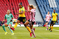 Allyson SWABY (AS Roma (ITA)) clears the ball from danger during the International Friendly match between Scotland Women and Jamaica Women at Hampden Park, Glasgow, United Kingdom on 28 May 2019.