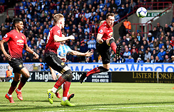 Manchester United's Phil Jones controls the ball in the air during the Premier League match at the John Smith's Stadium, Huddersfield.