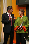 Gordon Brown with Vivienne Cox- the winner, Veuve Cliquot Award.- Business Woman of the Year. claridge's. London. 27 April 2006. ONE TIME USE ONLY - DO NOT ARCHIVE  © Copyright Photograph by Dafydd Jones 66 Stockwell Park Rd. London SW9 0DA Tel 020 7733 0108 www.dafjones.com
