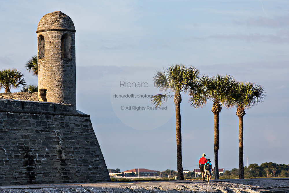 The belltower at Castillo de San Marcos in St. Augustine, Florida. St Augustine is the oldest city in America.