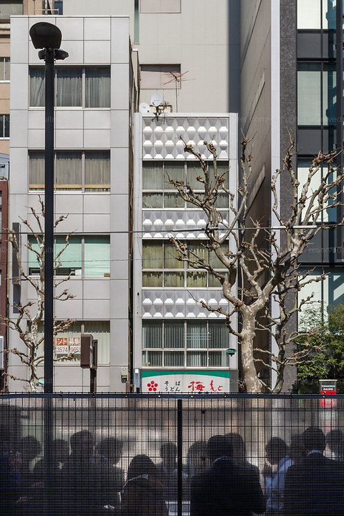 A smoking area near Ginza, Tokyo, Japan Friday March 10th 2017