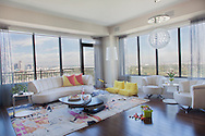 Seek Interior Design enjoyed working with the Pearsons to create a space for their young and active family. The beautiful views of downtown Denver and City Park feel like part of the room. Photogrpahed by Shauna Intelisano and Styled by Erica Mcneish