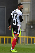 Grimsby Town Forward Wes Thomas (39) celebrates scoring goal to go 1-0 during the EFL Sky Bet League 2 match between Grimsby Town FC and Milton Keynes Dons at Blundell Park, Grimsby, United Kingdom on 26 January 2019.