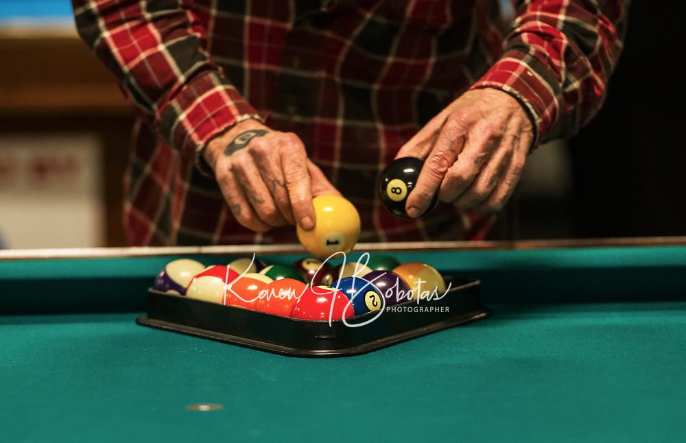 Robbie Mills 8 Ball Tournament at the Rod and Gun in Laconia.    ©2019 Karen Bobotas Photographer